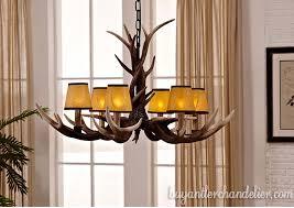 best 6 cast elk antler chandelier six candle style pendant light rustic home deluxe lighting fixtures