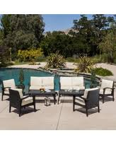 image black wicker outdoor furniture. waikiki outdoor 8piece wicker seating set with cushions by christopher knight home image black furniture