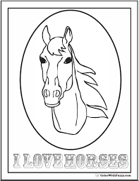 Simply download and print these coloring pages featuring our most popular bobcat machines. Horse Coloring Page Riding Showing Galloping