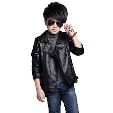 spring autumn kids boys girls leather coat for children pu leather cool jackets for girls solid