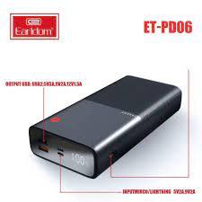 Sạc Dự Phòng Earldom 30.000mAh PD - 06 Bảo Hành 99 Năm giá cạnh tranh