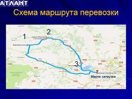 Отчет по преддипломной практике Место прохожения преддипломной   Схема маршрута перевозки