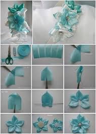 Paper Ribbon Flower Diy Pretty Kanzashi Ribbon Flower Hairband