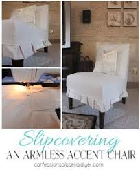 how to slipcover an armless chair great tutorial with lots of pictures shows how this
