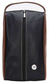 mesa leather golf shoe bag