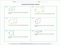 Volume And Surface Area Of Rectangular Prisms With Whole Numbers ...
