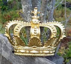 crown wall decor kirklands gold nursery crib canopy
