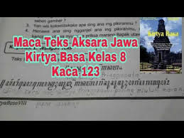 Maybe you would like to learn more about one of these? Maca Teks Aksara Jawa Kirtya Basa Kelas 8 Hal 123 Youtube