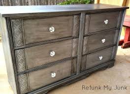 black and silver furniture. this is the touch that silver painted furniture needsblack glaze black and l