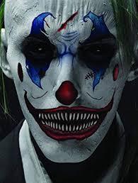 amazon realistic temporary costume make up face tattoo kit men or women scary clown 1 kit beauty