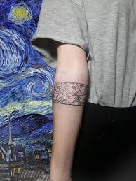 Tattoo Vangogh Starrynight звезднаяночь тату вангог татуировка