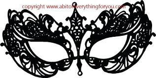 Masquerade Mask Template Extraordinary Free Printable Venetian Mask Template Black Filigree Masquerade