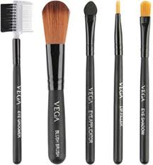 vega set of 5 brushes travel kit vega makeup