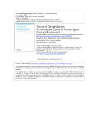 pdf the future of tourism research