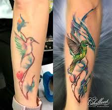 татуировка колибри исправление Chillout Tattoo Workshop