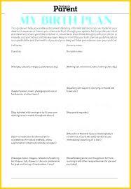 Sample Natural Birth Plan Sample Birth Plan Template
