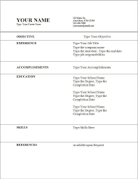 Resume Template Wordpad Download Example Basic Resume Template