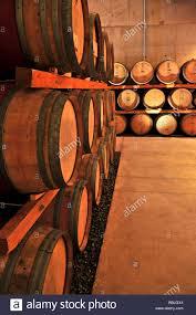 Stacked oak wine barrels in winery cellar Stock Photo 24379996 Alamy