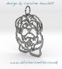 Face Pendant Design Shih Tzu Dog Face On Pierced Pendant Sterling Silver Handmade By Saw Piercing Caroline Howlett Design