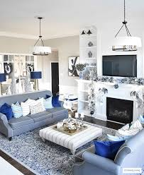 ... Christmas Home Tour - Gorgeous living room dressed in blues, gold,  silver and flocked