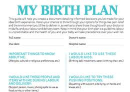 What Should A Birth Plan Look Like Birth Plan Checklist Todays Parent