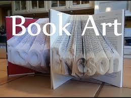 folded book art detail