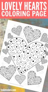 This Lovely Free Printable Hearts Coloring