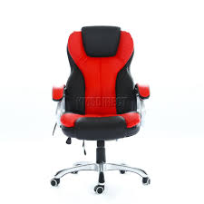 office reclining chair. sentinel foxhunter luxury 6 point massage office computer chair reclining mc8074 red new