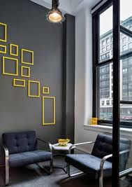 Image Xost Just For The Visual Of Yellow Accents On Grey Walls Office Wall Colors Office Wall Pinterest 137 Best Office Wall Decor Images Design Offices Diy Ideas For