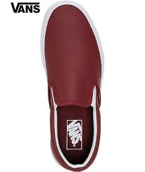 vans certify vans classic port perforated leather slip on shoes red dark shoe womens casual bcdikqsz14