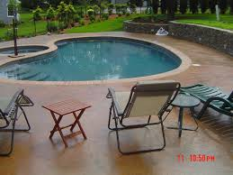 stamped concrete pool patio. Stamped Concrete Pool Deck RI Rhode Island Artistic Patio