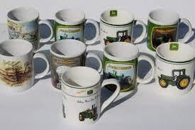 $11.0 rare gibson john deere tractor coffee tea cup mug nothing runs like a deere. Collectible John Deere Tractor Mugs Gibson Ceramic Coffee Cups Lot