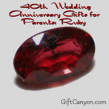 ruby wedding anniversary gifts for pas