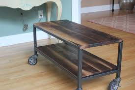 custom made 2 tier coffee table on casters