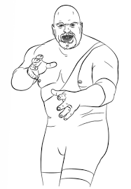Small Picture WWE The Big Show coloring page Free Printable Coloring Pages