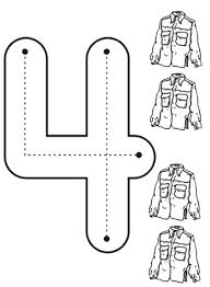 In this video wally draws and colors characters zero to nine from the popular british television series numberjacks. Learn Number 4 With Four Jackets Coloring Page Bulk Color