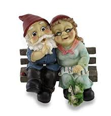 mr and mrs gnome couple happily
