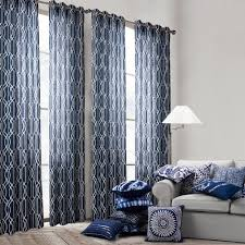 Navy And White Curtains Ikea Werna Curtains In A Masculine Bedroom Elite Overstock Dark
