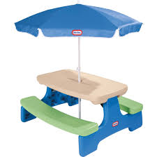 little tikes easy picnic table with umbrella