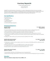 Front Office Resume Interesting Medical Office Receptionist Resume 48 Templates Doc Free Cover Letter