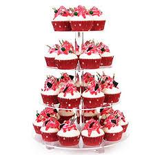 YestBuy 4 Tier Clear Wedding Party Acrylic Cupcake ... - Amazon.com