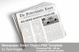 Newspaper Psd Template Download Newspaper Smart Object Psd Template By Spentoggle On Deviantart