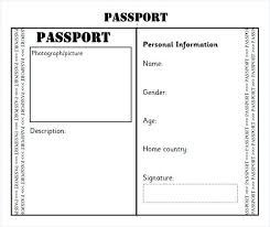 Free Passport Template For Kids Simple Blank Passport Template Uk Free Flybymediaco