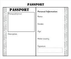 Free Passport Template For Kids Simple Blank Passport Template Uk Free Flybymediaco