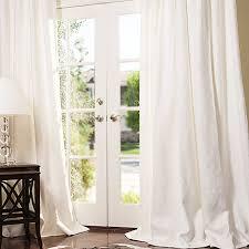 manhattan custom linen dry in white with matte nickel grommets