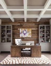 home office wall ideas. Office Accent Wall Ideas Home Transitional With Beamed Ceiling Desk Chair Art