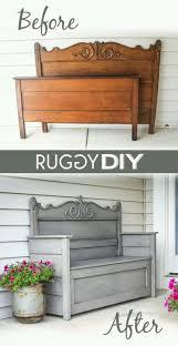 diy repurposed furniture. Upcycle · Headboard BenchesCheap Diy HeadboardRefinished HeadboardBed Frame BenchRepurposed FurnitureFurniture Repurposed Furniture