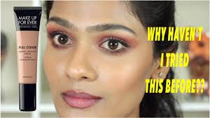 makeup forever full cover concealer review demo weartest on tan um brown indian skintones