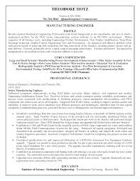 Professional Resumes Sample Resume For Mechanical And