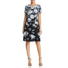 Karl Lagerfeld Womens B W Party Floral A Line Cocktail Dress